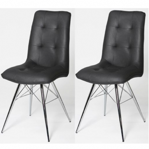 Home Essential  PMT Grey Chairs (Pair)
